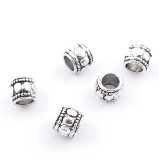 36214-12 PACK OF 25 METAL FASHION JEWELRY BEADS 5 X 5 MM