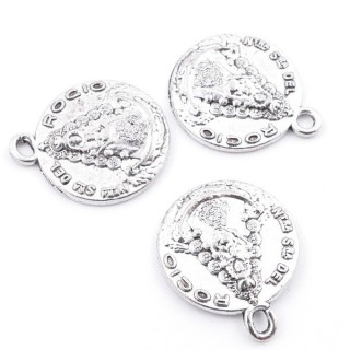 36214-13 PACK OF 12 FASHION JEWELRY METAL CHARMS 15 MM