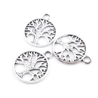 36134-04 PACK OF 14 METAL TREE OF LIFE 19 MM CHARMS