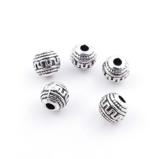 36134-16 PACK OF 40 METAL 5 MM BALL BEADS WITH DESIGN