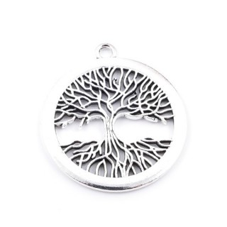 36134-33 PACK OF 2 METAL TREE OF LIFE 41 MM PENDANTS