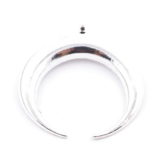36134-35 FASHION JEWELRY METAL INVERTED MOON 56 X 62 MM PENDANT