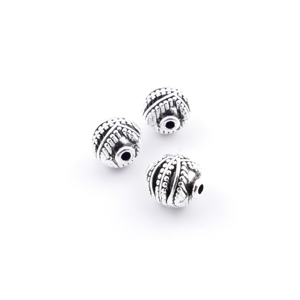 36134-46 PACK OF 12 METAL 8 MM BEADS WITH DESIGN