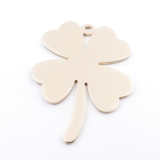36135-05 SHAMROCK SHAPED FASHION JEWELRY METAL 78 X 60 MM PENDANT