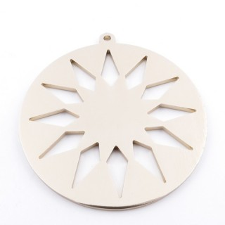 36135-06 SUN SHAPED FASHION JEWELRY METAL 70 MM PENDANT