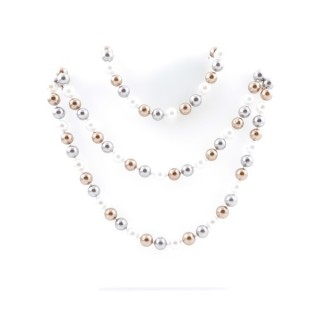 43063-03 SHELL PEARL 8 MM X 120 CM LONG NECKLACE