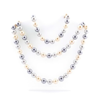 43062-01 SHELL PEARL 10 MM X 120 CM LONG NECKLACE