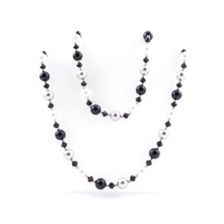 43061-02 SHELL PEARL 10 MM X 80 CM LONG NECKLACE