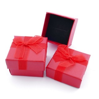 18819-07 PACK OF 24 GIFT BOXES FOR RINGS 4 X 4 CM IN RED