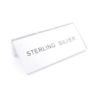 "35810 ACRYLIC ""STERLING SILVER"" STAND 75 X 35 X 20 MM"