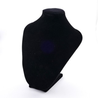 33055 BLACK VELVET 22 X 16 X 11 CM BUST FOR NECKLACES