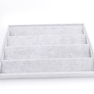 33780 GREY VELVET 35 X 24 MM DISPLAY TRAY FOR EARRINGS