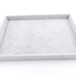 33784 GREY VELVET 35 X 24 MM DISPLAY TRAY FOR GENERAL USE