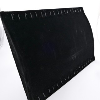 33100 BLACK VELVET DISPLAY TRAY WITH STAND FOR CHAINS/BRACELETS 35 X 24 CM