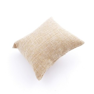 35654 PACK OF 15 BEIGE JUTE 8 X 7 CM DISPLAY PILLOWS