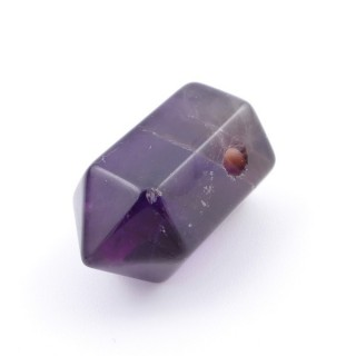 37303-05 NATURAL STONE AMETHYST 21 X 12 MM POINTER PENDANT