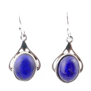 58010-02 STERLING SILVER 18 X 12 MM FISH HOOK EARRINGS WITH LAPIS LAZULI