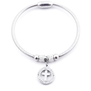 37769 ELEGANT STAINLESS STEEL BRACELET FOR LADIES WITH MAGNETIC CLASP