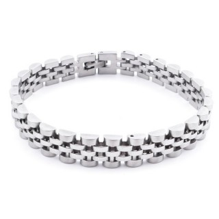 37869 STAINLESS STEEL SILVER COLOURED 20 CM X 10 MM BRACELET