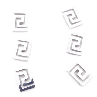 31202-18 PACK OF 3 PAIRS OF STAINLESS STEEL POST EARRINGS