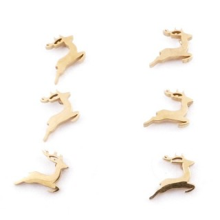 31203-58 PACK OF 3 PAIRS OF STAINLESS STEEL POST EARRINGS IN GOLD COLOUR