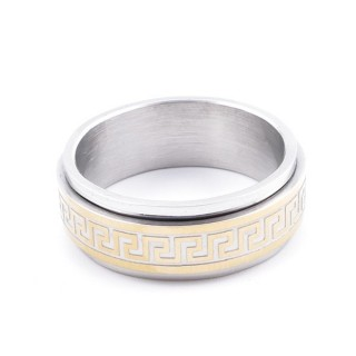 37741 PACK OF 10 STAINLESS STEEL RINGS IN ASSORTED SIZES. THICKNESS: 8 MM