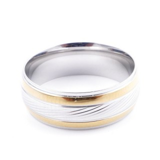 37746 PACK OF 10 STAINLESS STEEL RINGS IN ASSORTED SIZES. THICKNESS: 8 MM
