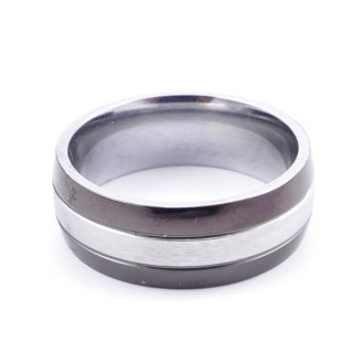 37747 PACK OF 10 STAINLESS STEEL RINGS IN ASSORTED SIZES. THICKNESS: 8 MM