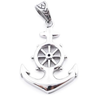 37799 STAINLESS STEEL ANCHOR SHAPED 44 X 32 MM PENDANT
