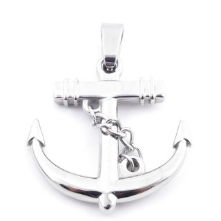 37800 STAINLESS STEEL ANCHOR SHAPED 38 X 37 MM PENDANT