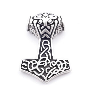37821 THOR'S HAMMER SHAPED STAINLESS STEEL 34 X 23 MM PENDANT