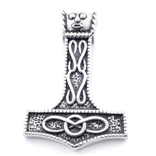37794 THOR'S HAMMER SHAPED STAINLESS STEEL 49 X 33 MM PENDANT
