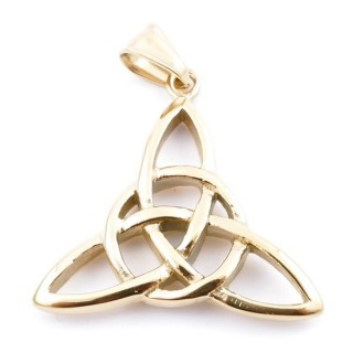37832 TRIQUETRA SHAPED 34 X 35 MM STAINLESS STEEL PENDANT