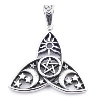 37831 TRIQUETRA SHAPED 39 X 41 MM STAINLESS STEEL PENDANT
