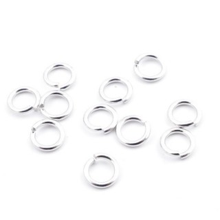 36480 PACK OF 20 STERLING SILVER JUMP RINGS 6 X 1 MM MAGLINE