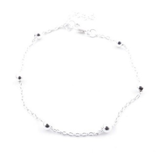 55234 STERLING SILVER 18 CM CHAIN BRACELET WITH 4 MM BALLS