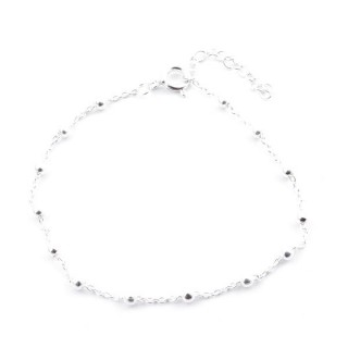55232 STERLING SILVER 18 CM CHAIN BRACELET WITH 2.5 MM BALLS