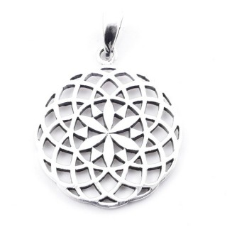 50096 STERLING SILVER PENDANT IN SHAPE OF SACRED GEOMETRY 23 MM