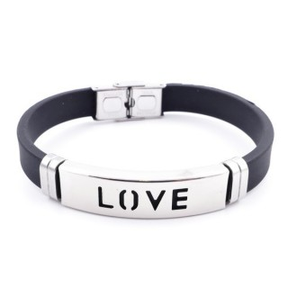 36133-28 ADJUSTABLE RUBBER AND STAINLESS STEEL BRACELET
