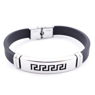 36133-34 ADJUSTABLE RUBBER AND STAINLESS STEEL BRACELET