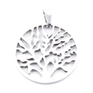 37728 STAINLESS STEEL 33 MM TREE OF LIFE PENDANT