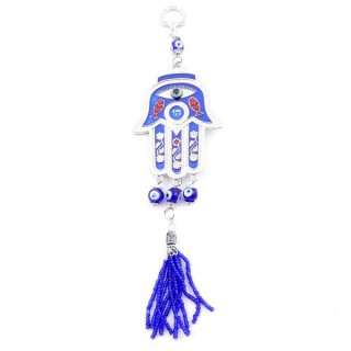 25099 HAMSA & EVIL EYE CHARM TO HANG 23 CM LONG