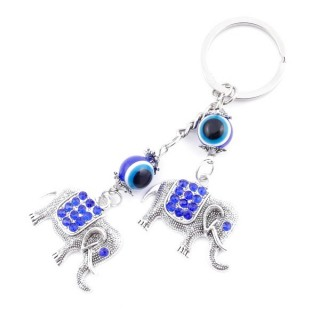 37366 METAL FASHION JEWELLERY KEYCHAIN WITH TURKISH EYE