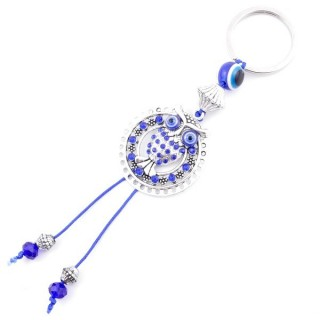 37364 METAL FASHION JEWELLERY KEYCHAIN WITH TURKISH EYE