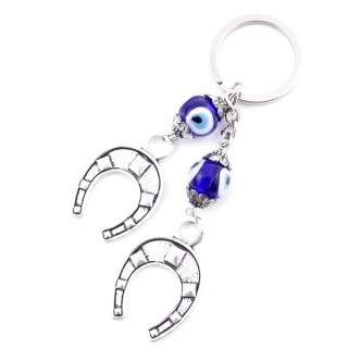 37361 METAL FASHION JEWELLERY KEYCHAIN WITH TURKISH EYE