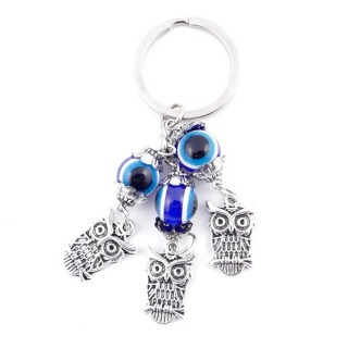 37345 METAL FASHION JEWELLERY KEYCHAIN WITH TURKISH EYE
