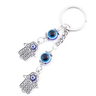 37346 METAL FASHION JEWELLERY KEYCHAIN WITH TURKISH EYE