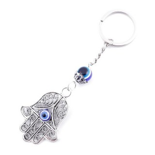 37347 METAL FASHION JEWELLERY KEYCHAIN WITH TURKISH EYE