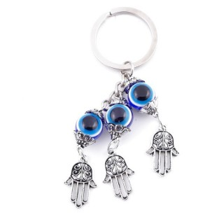 37348 METAL FASHION JEWELLERY KEYCHAIN WITH TURKISH EYE