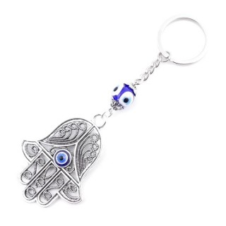 37349 METAL FASHION JEWELLERY KEYCHAIN WITH TURKISH EYE